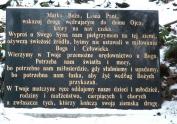 tablica z modlitwą przy źródełku